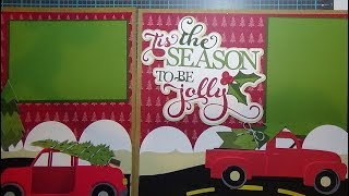 Tis the Season to be Jolly:  Cricut Christmas Scrapbook Layout