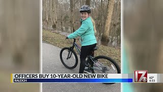 Raleigh police officers explain motivation to replace 10-year-old girl's stolen bike