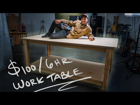 Building a Proper Work Bench for $100 - Woodworking for Beginners