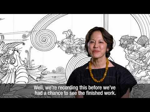 Transcendent Attacking a Whirlwind 風仙図屏風 (Takashi Murakami, 2017)