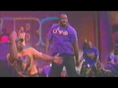Shaquille O'Neal stepping with Omega Psi Phi (August 1997)
