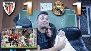 REACCIÓN DE UNOS HINCHAS (CON MI NOVIA) ATHLETIC BILBAO VS REAL MADRID 1-1