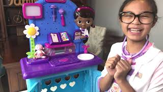 Disney Doc McStuffins Pet Vet Get Better Check-Up Center with Snuggles Pretend Play   Toys Academy