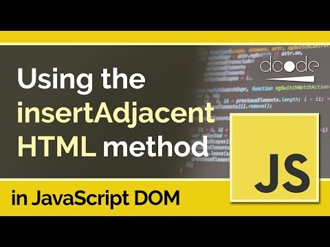 JavaScript DOM Tutorial - Element.insertAdjacentHTML()