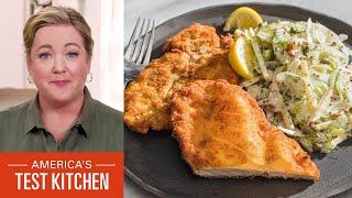 How to Make Chi¢ken Schnitzel and Potato Roesti