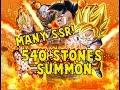 540 STONES MANY SSR PULLS SSJ Goku GT Majuub Rebirth DOUBLE SSR RATES DBZ Dokkan Battle