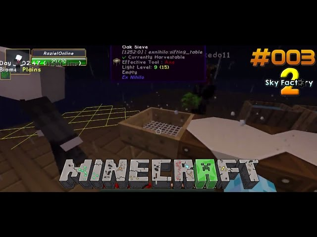 Let's Play Minecraft Sky-Factory 2 | Der Anfang vom Ende - Das Sieb | Folge #003