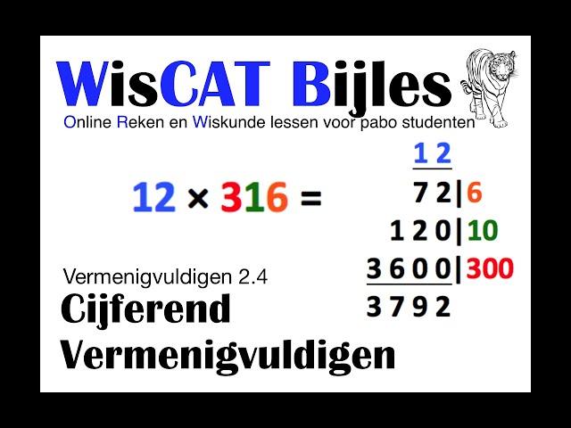 Cijferen - WisCAT Werkboek: Vermenigvuldigen 2.4