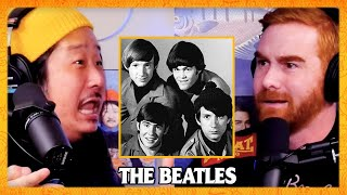 Bobby Lee Loses It Trying to Defend The Beatles w/ Andrew Santino | Bad Friends Clips