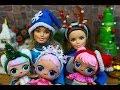 Как сделать новогодний ободок своими руками для кукол ЛОЛ и Барби  DIY MC Family