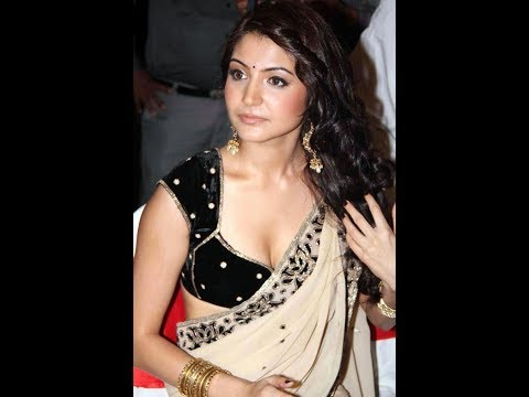 Anushka Sharma Low Hip in Saree