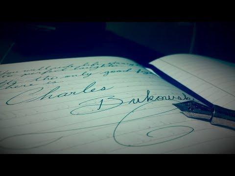Charles Bukowski - Go all the way (Cursive Handwriting)