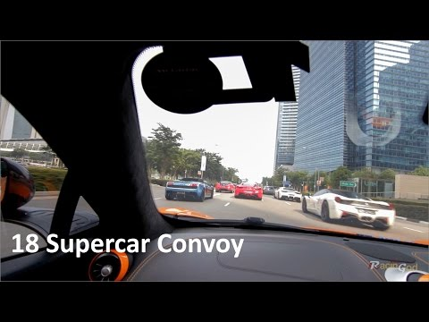 McLaren Ride with Supercar Convoy Through Town In Singapore! - Scuderia FSG