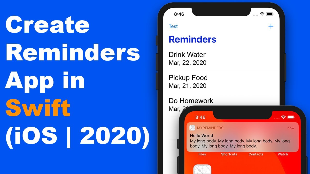 How To Build Reminders iOS App in Swift 5 for Beginners
