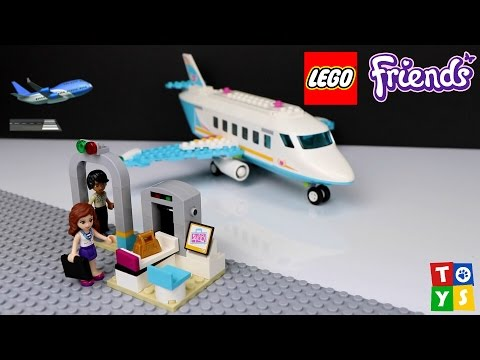 Lego Friends Heartlake Private Jet Playset Unboxing and Play