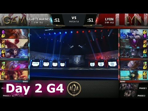 Gigabyte Marines (SEA) vs Lyon Gaming (LAN) | Day 2 LoL MSI 2017 Play-In | GAM vs LYN MSI 2017