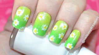 Gradient Nails Floral Design / Градиентный Маникюр Омбре