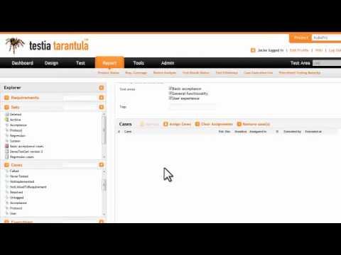 Tarantula Test Management Tool - YouTube