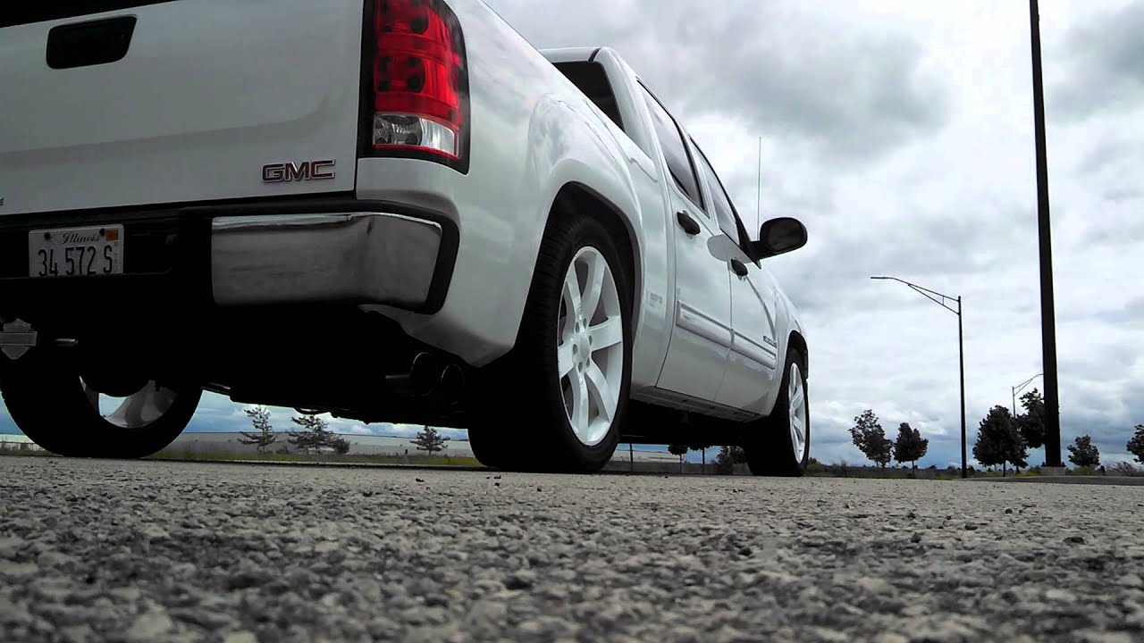 2008 Gmc Sierra 2 Quot 5 Quot Drop White On White Youtube
