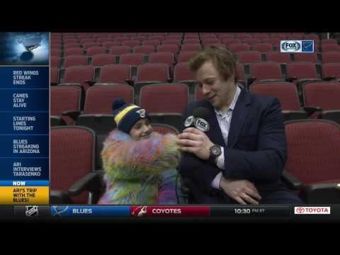 Ari interviews Tarasenko before Blues game in Arizona