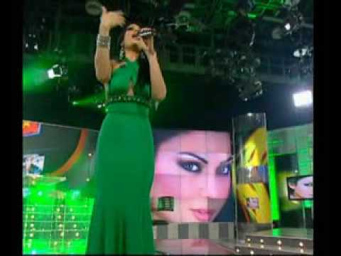 "Haifa Wehbe sings ""Ragab"" on Hala show رجب"