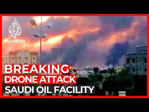 Drones hit 2 Saudi Aramco oil facilities, causes fires