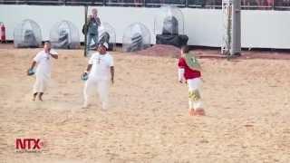 Oaxaqueños presentan pelota mixteca en Juegos Mundiales Indígenas, en brasil