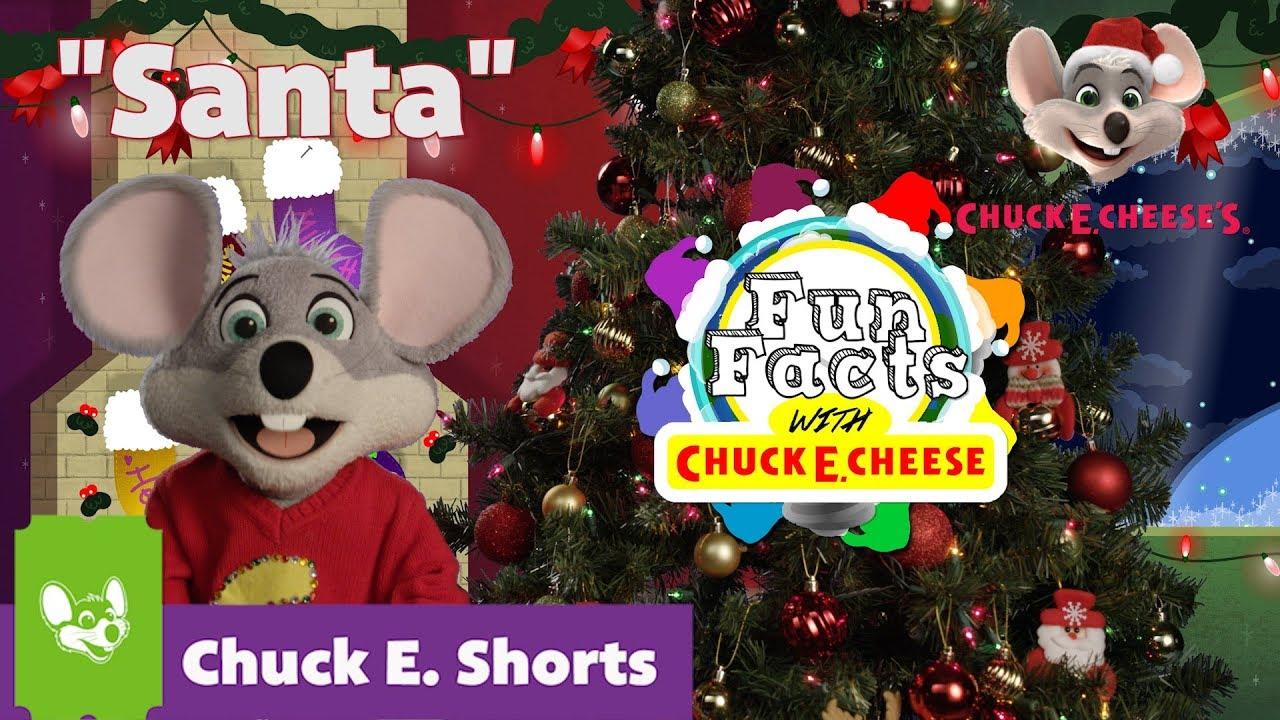 Chuck E Cheese Christmas.Fun Facts With Chuck E Cheese Santa Chuck E Shorts