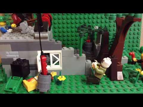 Лего самоделка #10 Зомби апокалипсис (База выживших)