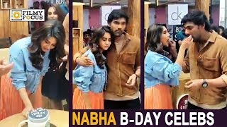 Nabha Natesh Birthday Celebrations on at BSS8 Movie Sets || Bellamkonda Srinivas
