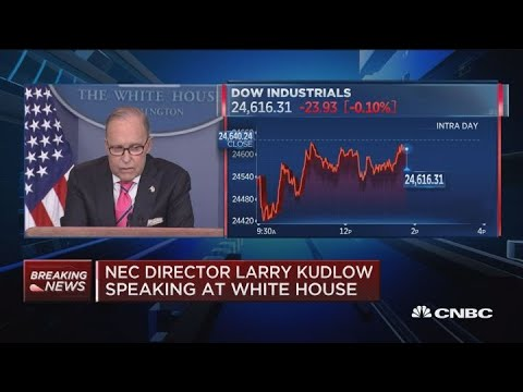 White House's Larry Kudlow says Trump remains open to deal with China