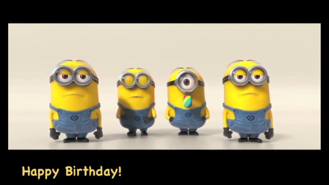 Happy Birthday With Minions 3d Youtube