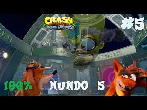 Guia Crash Bandicoot N. Sane Trilogy | Mundo 5 | Crash Bandicoot 2 | 100%