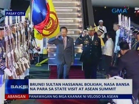 Brunei Sultan Hassanal Bolkiah, nasa bansa na para sa State visit at ASEAN Summit