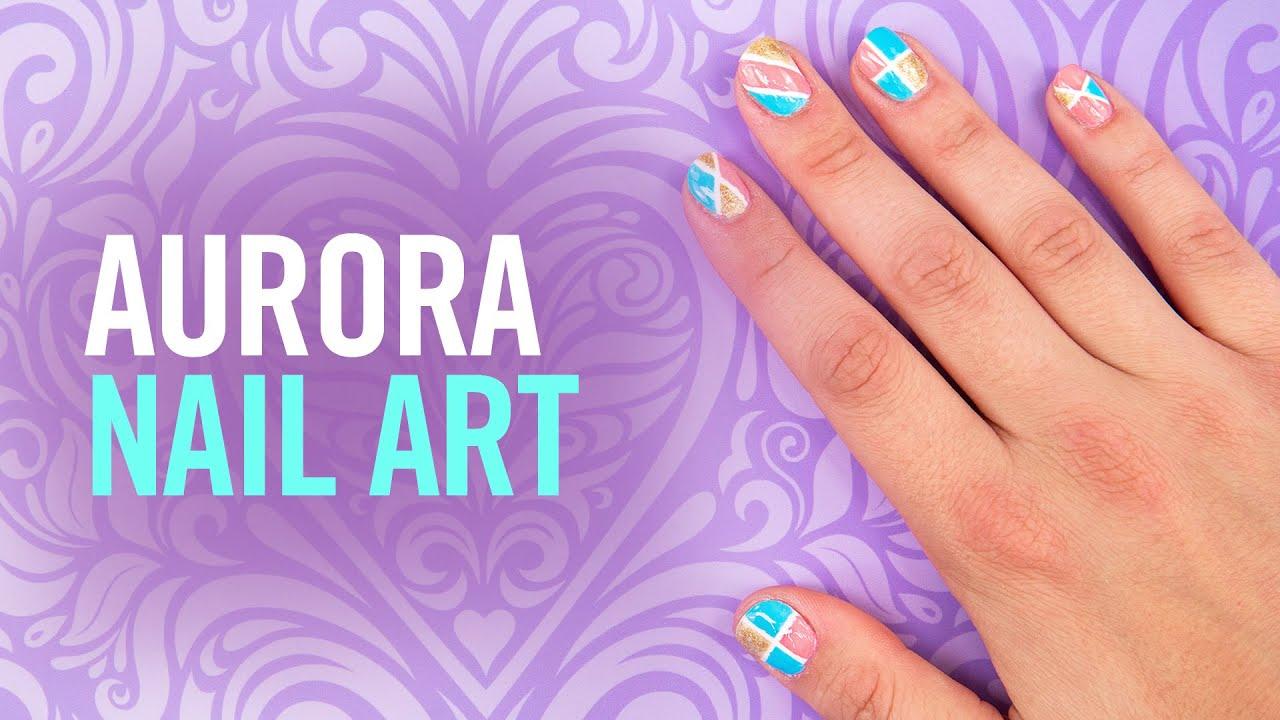 Princess aurora colorblock nail art tutorial tips by disney princess aurora colorblock nail art tutorial tips by disney style prinsesfo Image collections