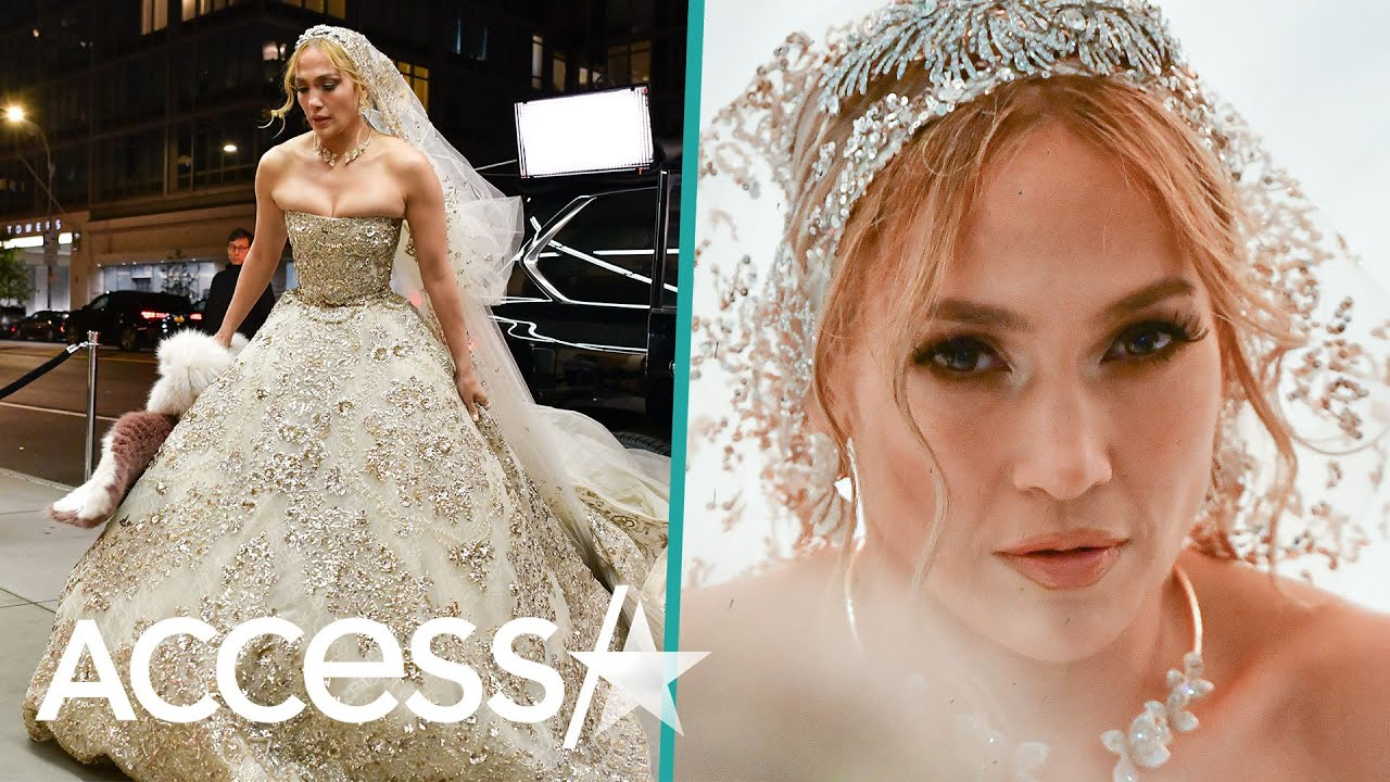 Jennifer Lopez Sparkles In Lavish Bridal Gown On 'Marry Me' Set Ahead Of Alex Rodriguez Wedding