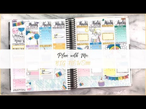 Plan with Me | BIG NEWS!! | Feat. Bunny in Flight Planner | Organized with Olivia