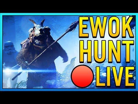 EWOK HUNT LIVE - Star Wars Battlefront 2 Ewok Hunt Mode