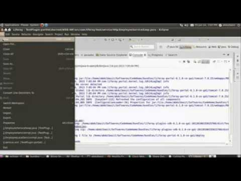 Calling Portlet as Web Service in Liferay - Webinar at Attune University