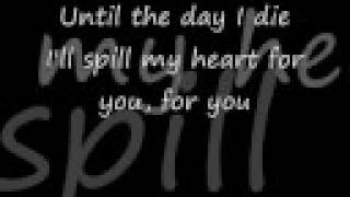 Until the day I die lyrics