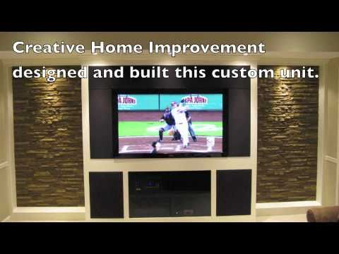 custom built entertainment center youtube - Built In Entertainment Center Design Ideas