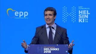 EPP Helsinki Congress - Pablo CASADO, President of the People's Party | Spain