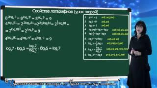 Свойства логарифмов (урок 2)