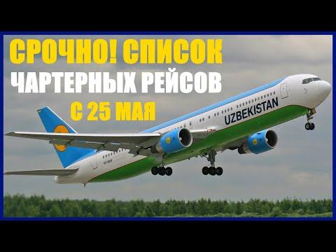 СРОЧНО!!! Чартерные рейсы список с 25 мая по 31 мая.
