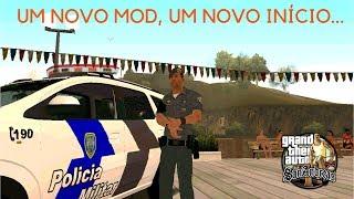 GTA San Andreas VIDA POLICIAL - UM NOVO MOD, UM NOVO INÍCIO com Chevrolet Spin PMES - EP 1