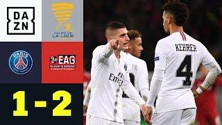 Neymar trifft, zwei Elfer später ist PSG raus: PSG - Guingamp 1:2 | Coupe de la Ligue | DAZN