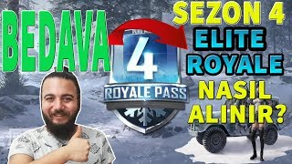 PUBG Mobile BEDAVA Elite ROYALE PASS NASIL ALINIR? SEZON 4 !