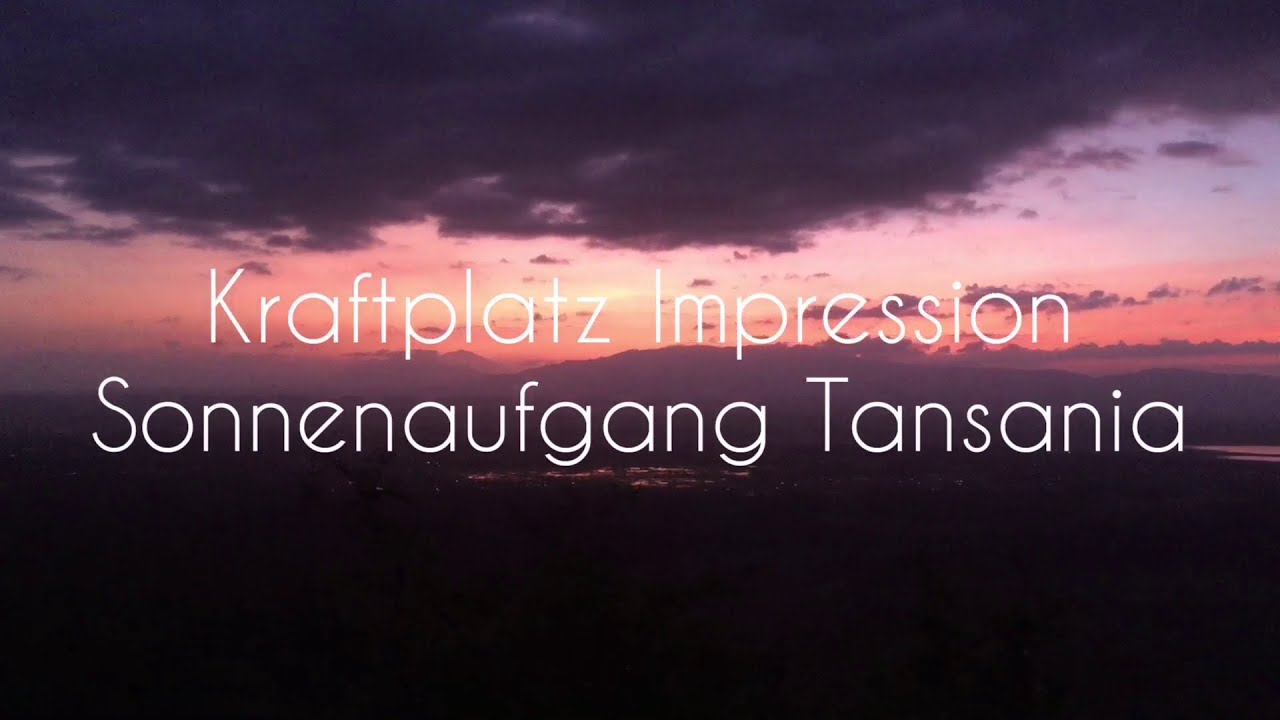 Kraftplatz Impression Sonnenaufgang Tansania