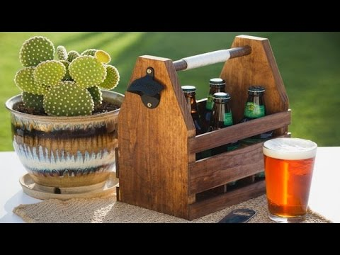 How to craft your own wood beer caddy youtube for How to craft your own beer