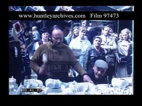 Street Market Trader, 1970s - Film 97473